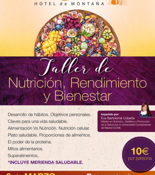 Taller de nutrición en el puerto de Navacerrada